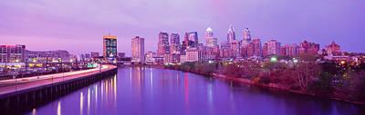 Twilight Philadelphia Pa Usa Art Print