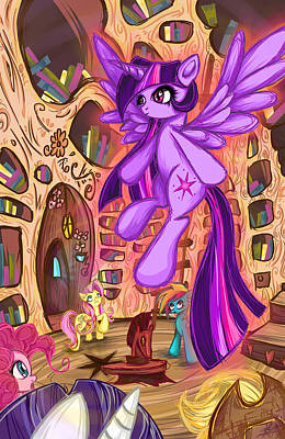 My Little Pony Digital Art - Twilight Poster by Sarah Bavar