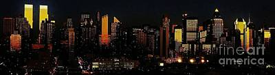 Art Print featuring the photograph Twilight Reflections On New York City by Lilliana Mendez