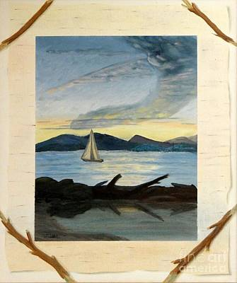 Painting - Twilight Sailing by Stephen Schaps