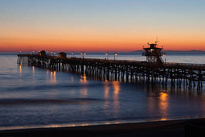 Twilight San Clemente Pier Art Print by Cliff Wassmann