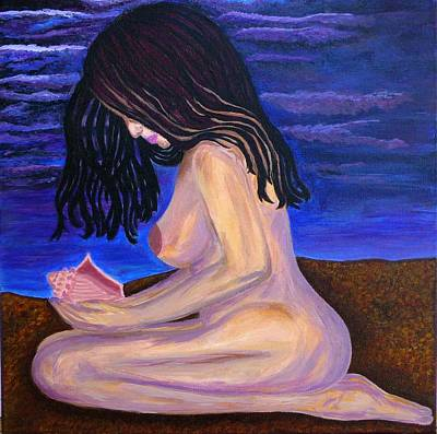 Twilight Seashell Original by Pennie DesJardins