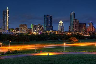 Art Print featuring the photograph Twilight Skyline by Dave Files