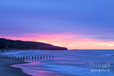 Photograph - Twilight St Clair Beach Dunedin New Zealand by Colin and Linda McKie