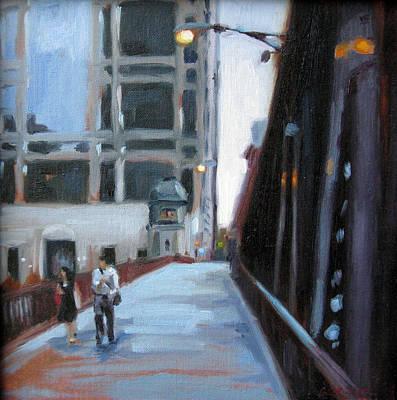 Painting - Twilight Stroll by Erin Rickelton