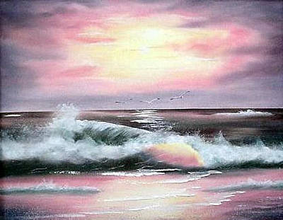 Painting - Twilight Surf by Fran Brooks