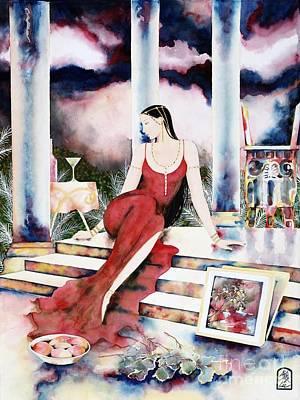 Painting - Twilight Surroundings by Frances Ku