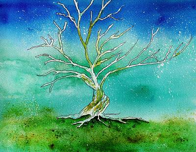 Painting - Twilight Tree by Brenda Owen