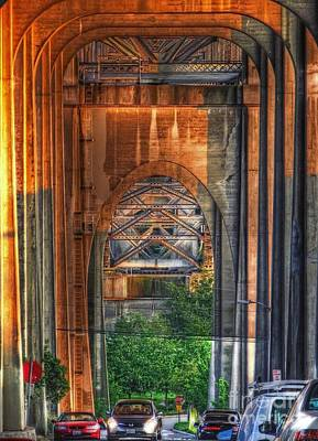 Photograph - Twilight Under A Fremont Bridge by Chris Anderson