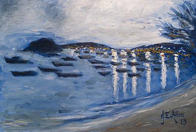 Joseph Edward Allen Painting - Twilight View - Armacao Dos Buzios by Joseph Edward Allen