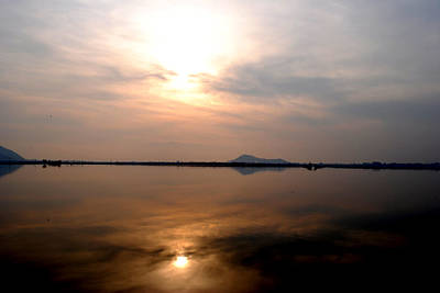Photograph - Twilight View Of Dal Lake- Kashmir- India- Viator's Agonism by Vijinder Singh