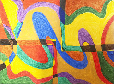 Abstract Shapes Painting - Twilight Zone by Stormm Bradshaw