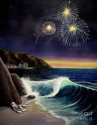 4th Of July Painting - Twilight's Last Gleaming by Jack Malloch