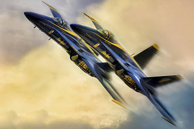 Blue Angels Digital Art - Twin Angels by Peter Chilelli
