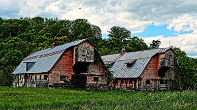 Photograph - Twin Barns by Cathy Shiflett