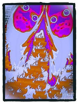Twin Beautiful Pink Bomshells Art Print by Caroline Gilmore
