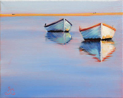 Twin Boats Art Print