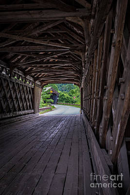 Trussed Photograph - Twin Covered Bridges North Hartland Vermont by Edward Fielding