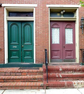 Art Print featuring the photograph Twin Doors by Sally Simon