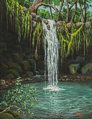 Painting - Twin Falls by Darice Machel McGuire