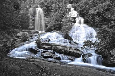 Photograph - Twin Falls by Frozen in Time Fine Art Photography