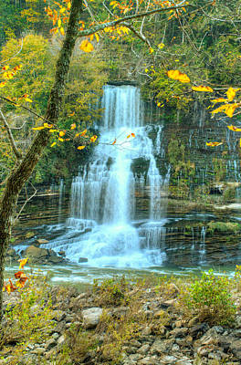 Photograph - Twin Falls In Fall Colors by Douglas Barnett