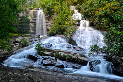 Twin Falls South Carolina Print by Frozen in Time Fine Art Photography