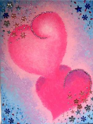 Painting - Twin Hearts by Anne Gardner