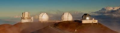 Keck Photograph - Twin Keck Telescopes Atop Mauna Kea by Craig Watanabe