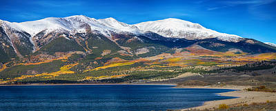 Fall Photograph - Twin Lakes Colorado Autumn Panorama by James BO  Insogna