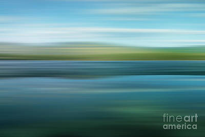 Blue Photograph - Twin Lakes by Priska Wettstein