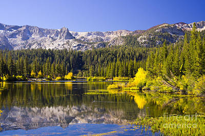 Autumn Photograph - Twin Lakes Reflection by Fred Ziegler