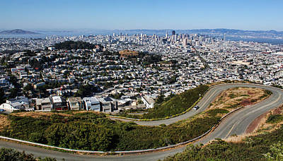 Photograph - Twin Peaks Overlook Of San Francisco by Judy Vincent