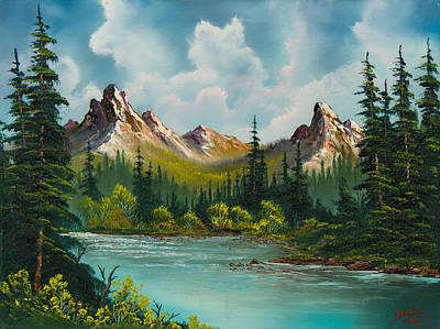 Bob Ross Style Painting - Twin Peaks River by C Steele