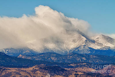 Bo Insogna Photograph - Twin Peaks Winter Weather View  by James BO  Insogna