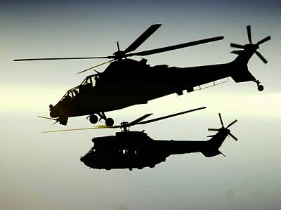South African Air Force Photograph - Twin Silhouette  by Paul Job