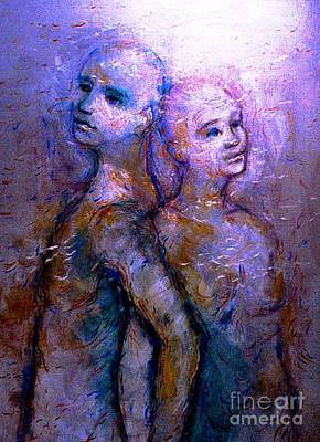 Painting - Twin Souls 1 by Nancy Wait