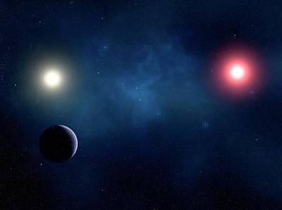 Digital Art - Twin Star System, Artwork by Sciepro