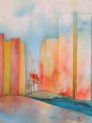 Painting - Twin Towers    by Bobbin