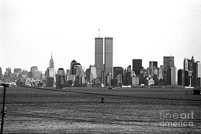 Photograph - Twin Towers From Staten Island by John Rizzuto