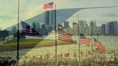 Twin Towers Montage Art Print