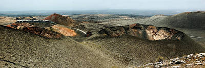 Photograph - Twin Volcanoes In Timanfaya Natural Park Lanzarote by Weston Westmoreland