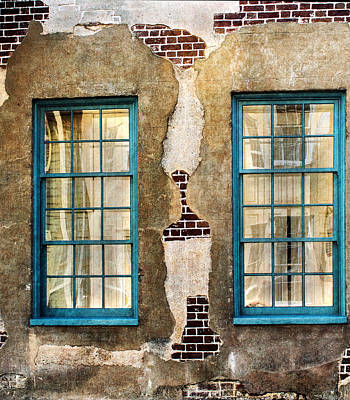 Photograph - Twin Windows In Charleston by Gary Slawsky