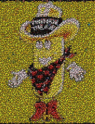 Twinkie Photograph - Twinkie The Kid Bottle Cap Mosaic by Paul Van Scott