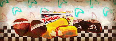 Digital Art - Twinkies Cupcakes Ding Dongs Gone Forever by Paulette B Wright