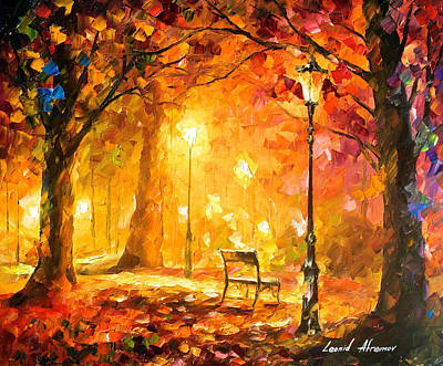 Twinkle Of Passion - Palette Knife Oil Painting On Canvas By Leonid Afremov Original by Leonid Afremov
