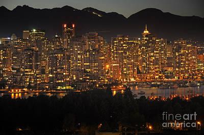 Photograph - Twinkling City Lights by Brenda Kean