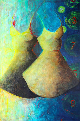 Alice In Wonderland Painting - Twins by Dawn Marie Forsyth