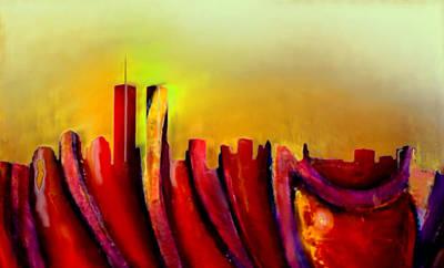 Twin Towers Trade Center Digital Art - Twins - Marcello Cicchini by Marcello Cicchini