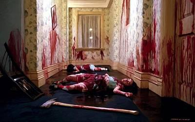 Twins Murdered @ The Shining Art Print
